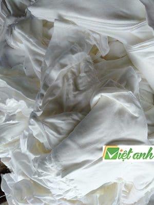 giẻ lau màu trắng cotton 100%